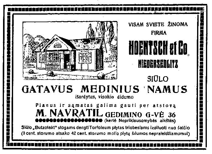 namų reklama